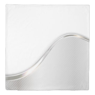 Light Wave Abstract (1 side) Queen Duvet Cover at Zazzle
