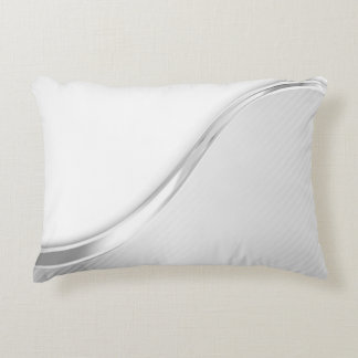 Light Wave Abstract (B/W) Accent Pillow