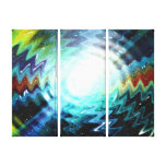 Light Wave Fantasy Galaxy Art Design Abstract Gallery Wrapped Canvas