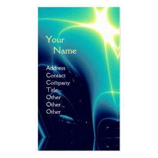 LIGHT WAVES 1MONOGRAM ,Aqua Blue, Turquase ,Teal Double-Sided Standard Business Cards (Pack Of 100)