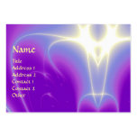 LIGHT WAVES, Violet,Purple,White Business Card Templates