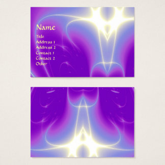 LIGHT WAVES, Violet,Purple,White Business Card