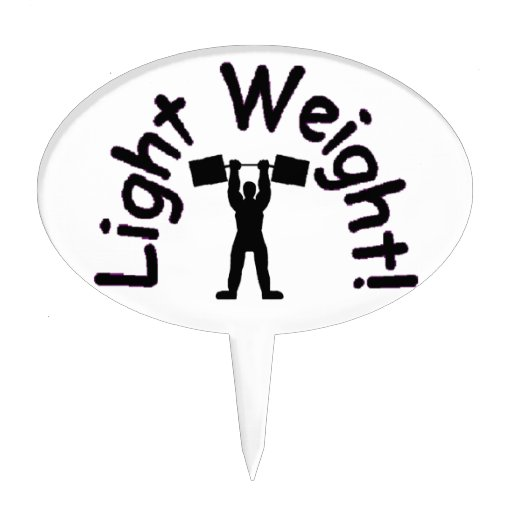 light weight products cake topper