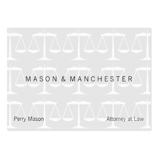 Light white quotwatermark stylequot scales of justice business for Watermark business cards