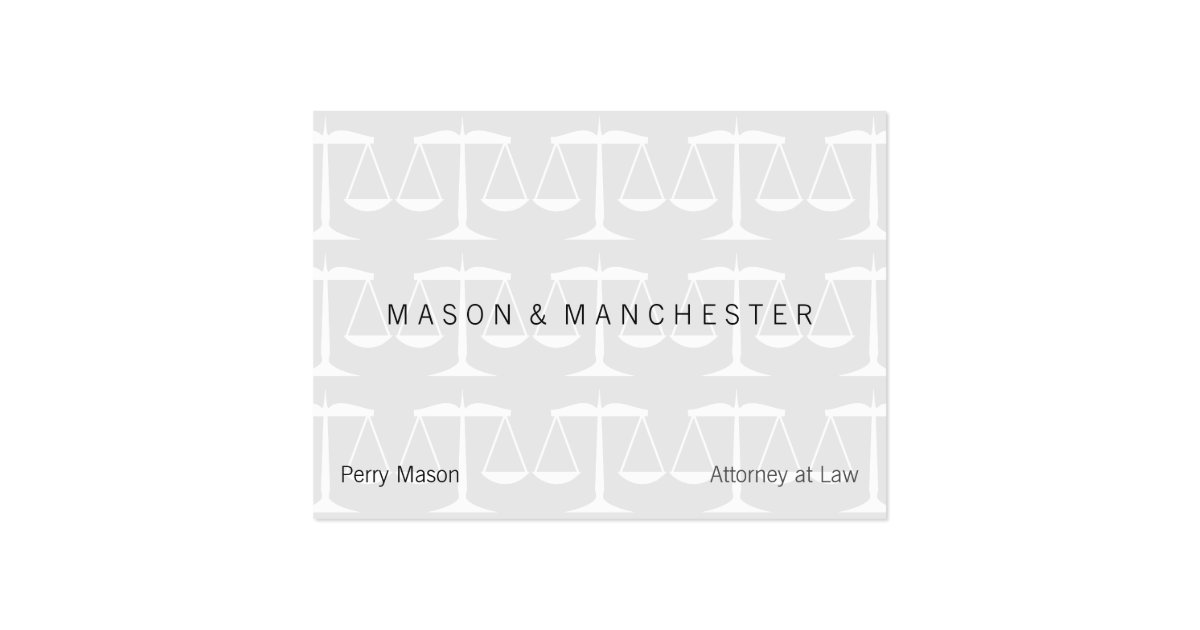 Light white quotwatermark stylequot scales of justice large for Watermark business cards