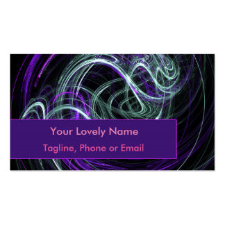 Light Within, Abstract Fractal Violet Indigo Swirl Double-Sided Standard Business Cards (Pack Of 100)