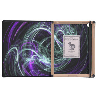 Light Within, Abstract Fractal Violet Indigo Swirl Case For iPad