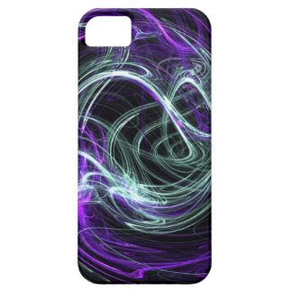 Light Within, Abstract Fractal Violet Indigo Swirl iPhone 5 Case