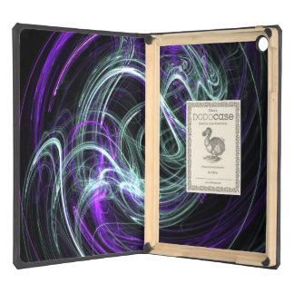 Light Within, Abstract Fractal Violet Indigo Swirl Case For iPad Air