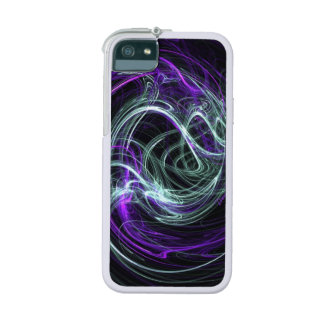 Light Within, Abstract Fractal Violet Indigo Swirl Cover For iPhone 5/5S