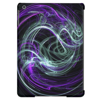 Light Within, Abstract Fractal Violet Indigo Swirl Cover For iPad Air