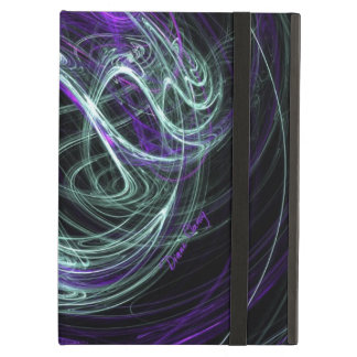 Light Within, Abstract Fractal Violet Indigo Swirl iPad Air Case
