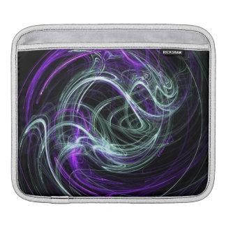 Light Within, Abstract Fractal Violet Indigo Swirl iPad Sleeves