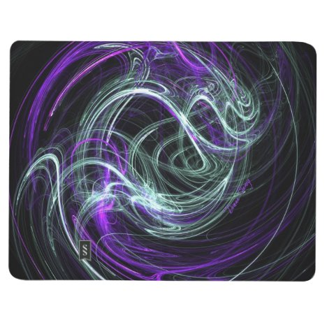 Light Within, Abstract Fractal Violet Indigo Swirl Journal