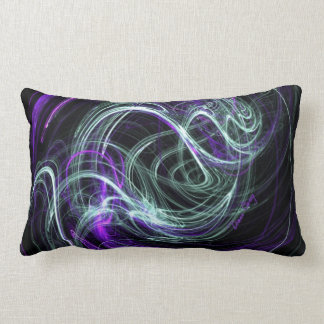 Light Within, Abstract Fractal Violet Indigo Swirl Throw Pillows