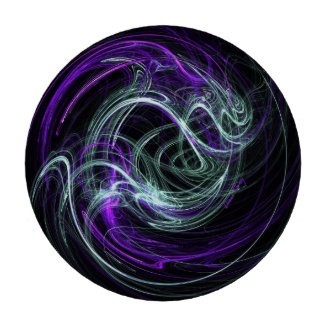 Light Within, Abstract Fractal Violet Indigo Swirl Set Of Poker Chips