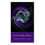 Light Within Abstract Fractal Violet Magenta Swirl Double-Sided Standard Business Cards (Pack Of 100)
