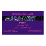 Light Within, Abstract Fractal Violet Purple Swirl Double-Sided Standard Business Cards (Pack Of 100)