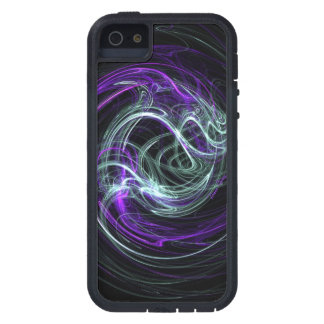 Light Within, Abstract Violet Indigo Cream Swirls iPhone 5 Cover