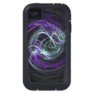 Light Within, Abstract Violet Indigo Cream Swirls iPhone4 Case