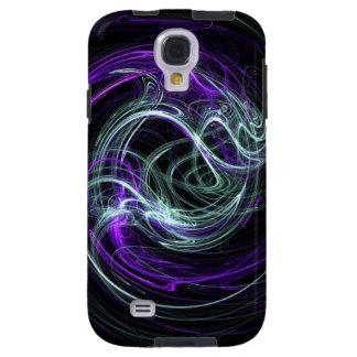 Light Within, Abstract Violet Indigo Cream Swirls Galaxy S4 Case