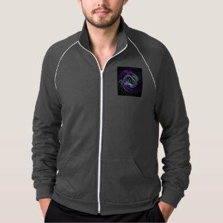 Light Within, Abstract Violet Indigo Cream Swirls Printed Jacket