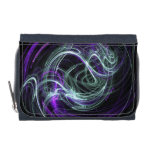 Light Within, Abstract Violet Indigo Cream Swirls Wallet