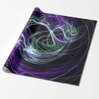 Light Within, Abstract Violet Indigo Cream Swirls Gift Wrap