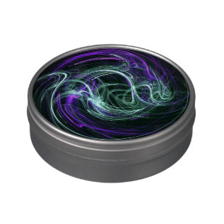 Light Within - Abstract Violet & Indigo Swirls Jelly Belly Tins