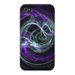 Light Within - Abstract Violet & Indigo Swirls Covers For iPhone 4