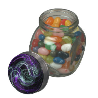 Light Within - Abstract Violet & Indigo Swirls Jelly Belly Candy Jar