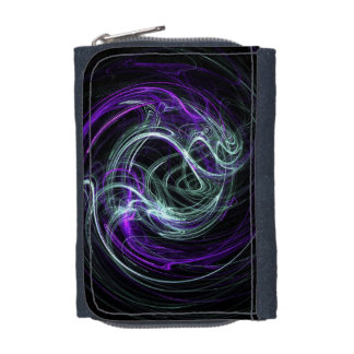 Light Within - Abstract Violet & Indigo Swirls Wallet