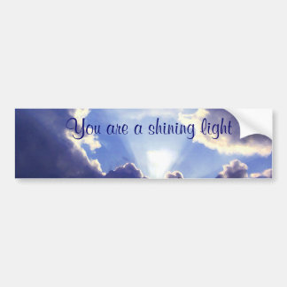 Light within the clouds_ bumper sticker