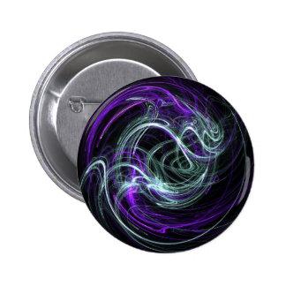 Light Within - Violet & Indigo Swirls 2 Inch Round Button