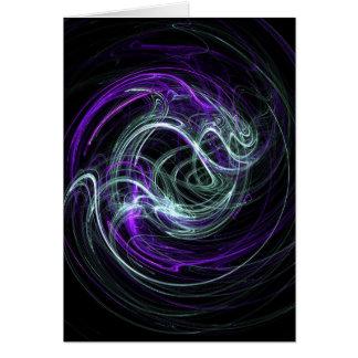 Light Within - Violet & Indigo Swirls Greeting Card