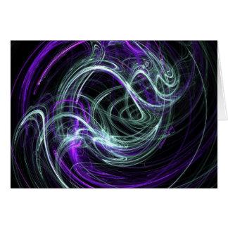 Light Within - Violet & Indigo Swirls Card