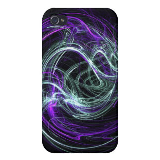 Light Within - Violet & Indigo Swirls Cover For iPhone 4