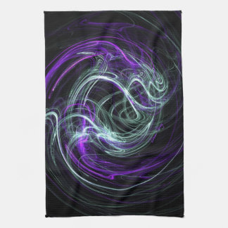 Light Within - Violet & Indigo Swirls Towel