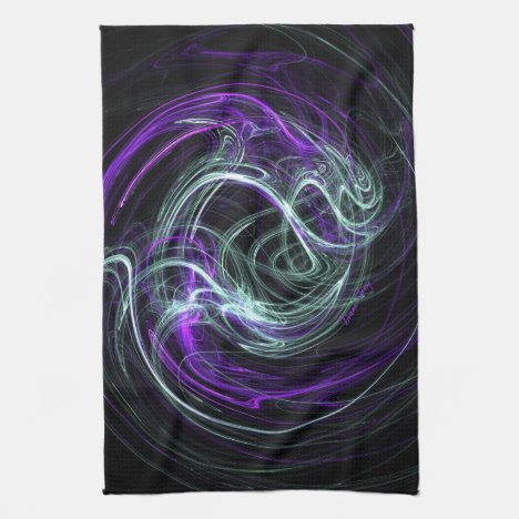 Light Within - Violet & Indigo Swirls Kitchen Towel