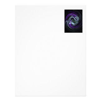 Light Within - Violet & Indigo Swirls Letterhead