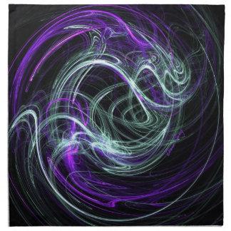 Light Within - Violet & Indigo Swirls Cloth Napkins