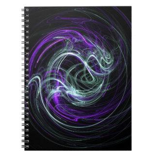 Light Within - Violet & Indigo Swirls Spiral Notebooks