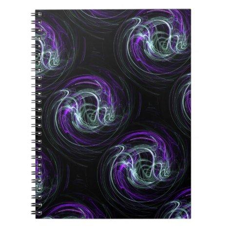 Light Within - Violet & Indigo Swirls Notebook