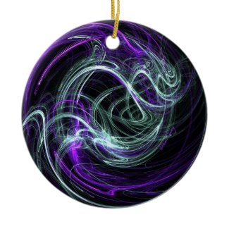 Light Within - Violet & Indigo Swirls Christmas Tree Ornament