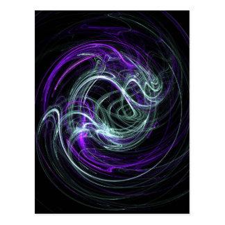 Light Within - Violet & Indigo Swirls Postcard