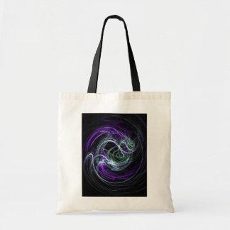 Light Within - Violet & Indigo Swirls Tote Bag