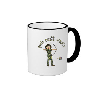 Light Woman Archery in Camouflage Coffee Mug