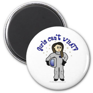 Light Woman Astronaut 2 Inch Round Magnet