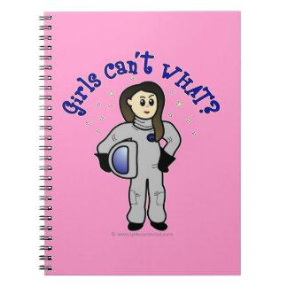 Light Woman Astronaut Note Books