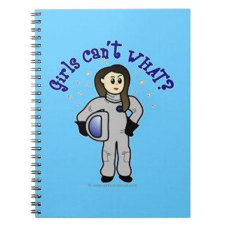 Light Woman Astronaut Notebooks